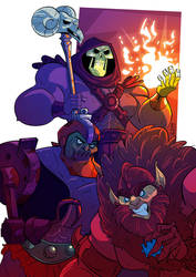 Skeletor and friends! by VirtualBarata