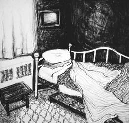 I Sleep Here Under 100 Blankets by ruralgoth
