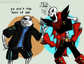 Skelebros: FallenSans meets FellPapyrus by HTF-ADTI-MLP100606