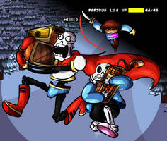 Universe # 0529216913 (Papyrus Genocide Run AU) by HTF-ADTI-MLP100606