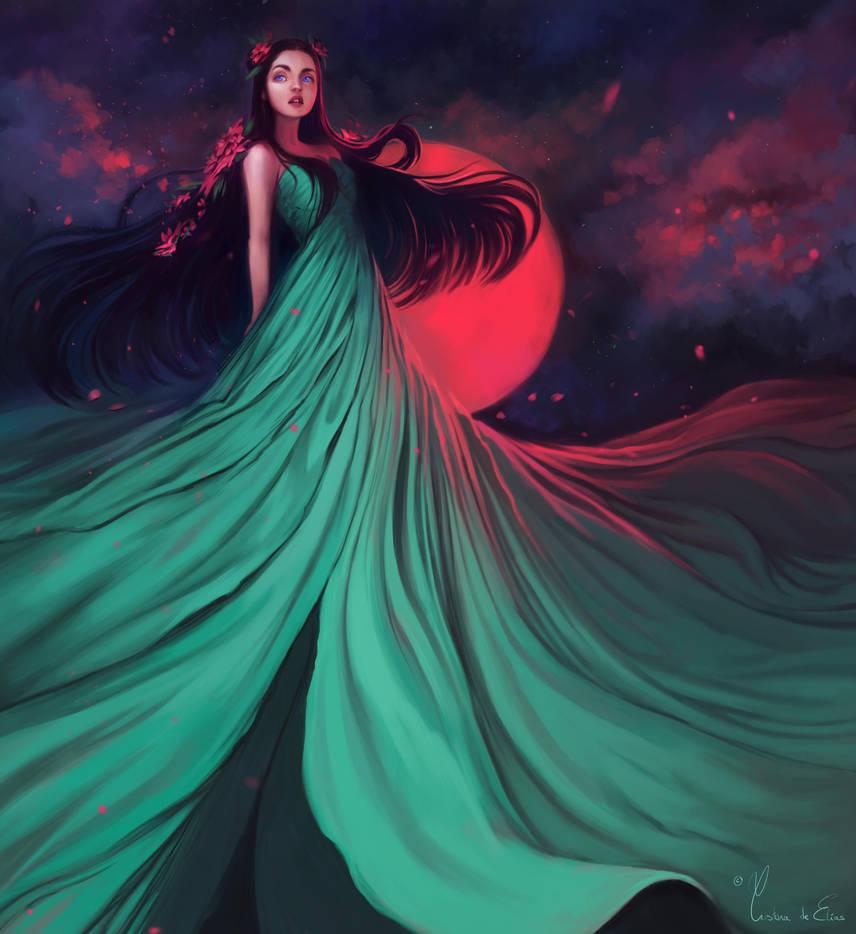 Hot moon by CristinaDeElias