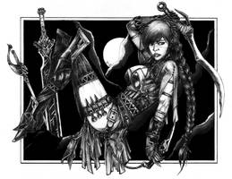 Danika (mercenary wip4) by jay-ecnal