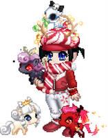 my gaia avatar Christmas 2k12 by matsuri2009