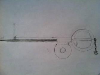 gunblade keyblade by matsuri2009