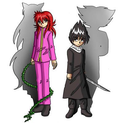kurama and hiei by matsuri2009
