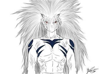 Yusuke Urameshi, demon form - Yu Yu Hakusho. by Eikonan