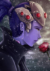 Widowmaker Winter Sadness by xabiling
