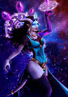Overwatch - WoW cross skins: Mage Symmetra by xabiling