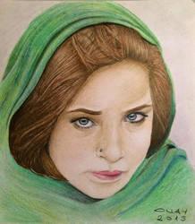 afgan girl by MorHuni