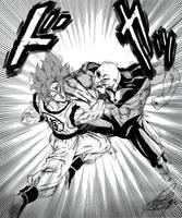 Goku vs Jiren - Manga Style by DBKAI