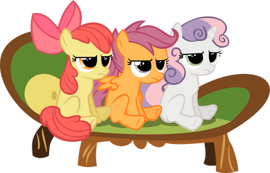 CUTIE MARK CRUSADERS LOOKS OF DISAPPROVAL, YAY! by videogamesizzle