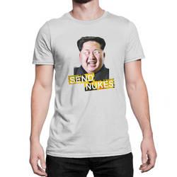 Send Nukes Kim Jong-Un Funny Novelty T-Shirt by eastvold