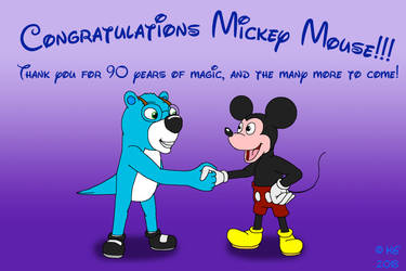Congratulations Mickey Mouse by kylgrv