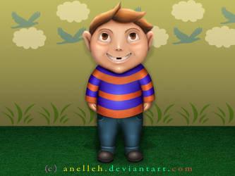 Boy Illustration by Anelleh