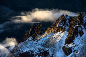 View from Huayna Potosi at dawn (2) by TerribleTer