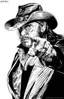 Lemmy (Ink) by KeithMeyerArt
