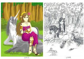 Primavera Dea 2012 and 2009 by BahamutDeusModus