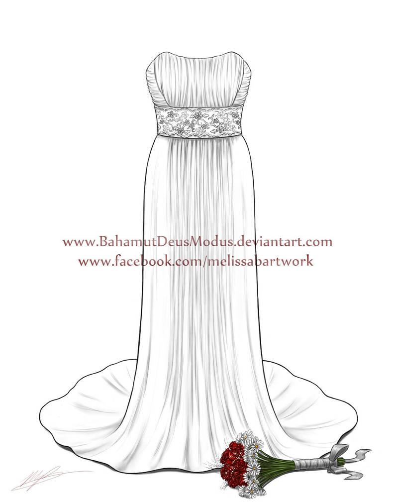 Wedding Dress Drawing Brittanys By Bahamutdeusmodus On Deviantart