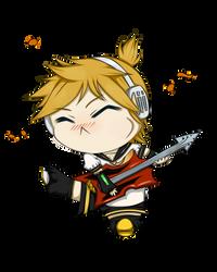 Vocaloid Len by DarkWingedLover
