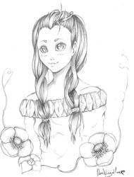 Flower Girl by DarkWingedLover