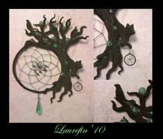 Black tree - dreamcatcher by Laurefin-Estelinion