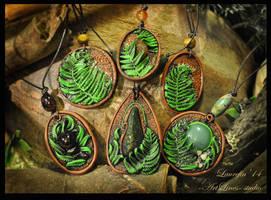 ferns - pendants by Laurefin-Estelinion