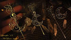 Celtic moon - brooch by Laurefin-Estelinion