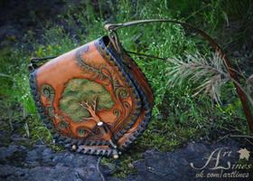 Tree of Life - leather handbag by Laurefin-Estelinion