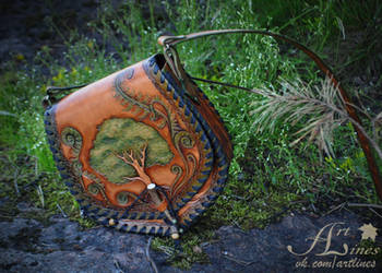 Tree of Life - leather handbag by Laurefin-Estelinion