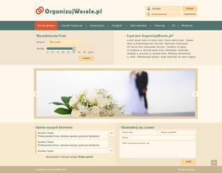 OrganizujWesele - layout pod portal weselny by Dziuniart
