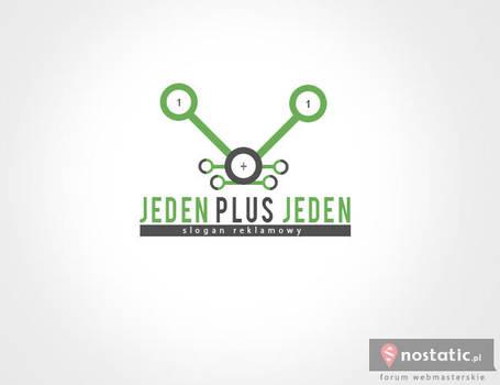 Logotyp - Jeden plus jeden by Dziuniart