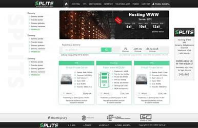 Layout Splits uslugi internetowe by Dziuniart