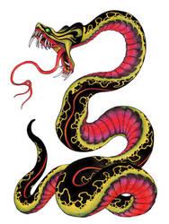 Snake tattoo design by burke5