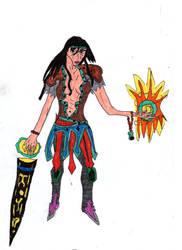 Warrior Wizard Soldier Girl by LOrdalie
