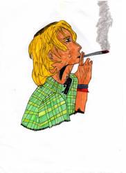 Marcette Smoking Weed by LOrdalie