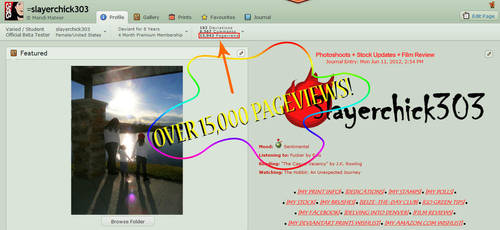 OVER 15,000 PAGEVIEWS! by slayerchick303
