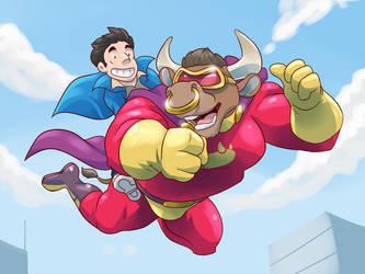 Bull-Itt the Superbull: 'Enjoying the view?' by Ultra-Gor