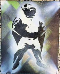 Bull-Itt the Superbull: street art by Ultra-Gor