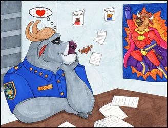 Chief Bogo...Bull-Itt's biggest secret admirer! by Ultra-Gor