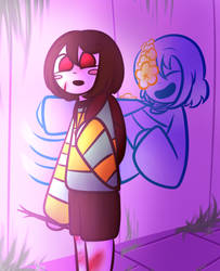 Undertale - AU - Underswap Chara And Frisk by Jendra82