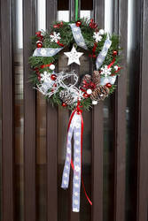 Door advent wreath by Ticha-Voda