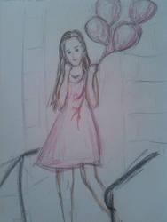 Balloon Girl by macaronisheep