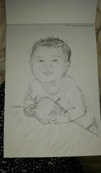 Boy with apple by macaronisheep