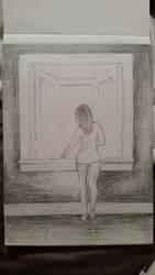 Woman at window by macaronisheep