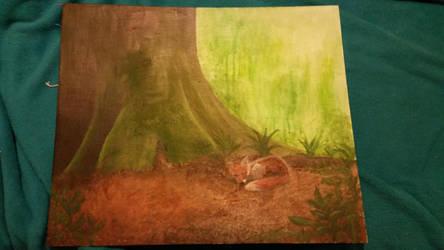 Sleeping fox by macaronisheep