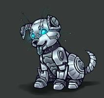 Cyberhound puppy by shibara-draws-mecha