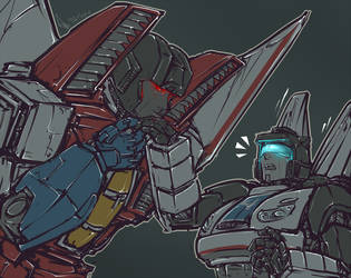 Fanfiction fanart - Coming to Terms - Hand kiss by shibara-draws-mecha