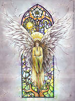Angel of light by delfee