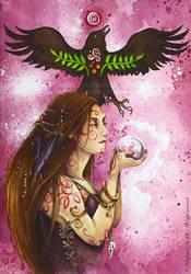 Morgan le fay  - Arthurian Legend by delfee