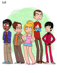 The Big Bang Theory characters by yllya